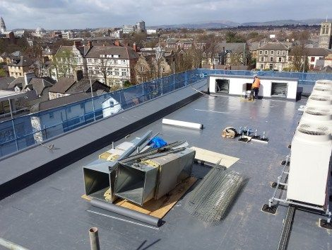 UK Border Agency in Cardiff now boasts a total of 750sq m of Sika Sarnafil single ply roofing