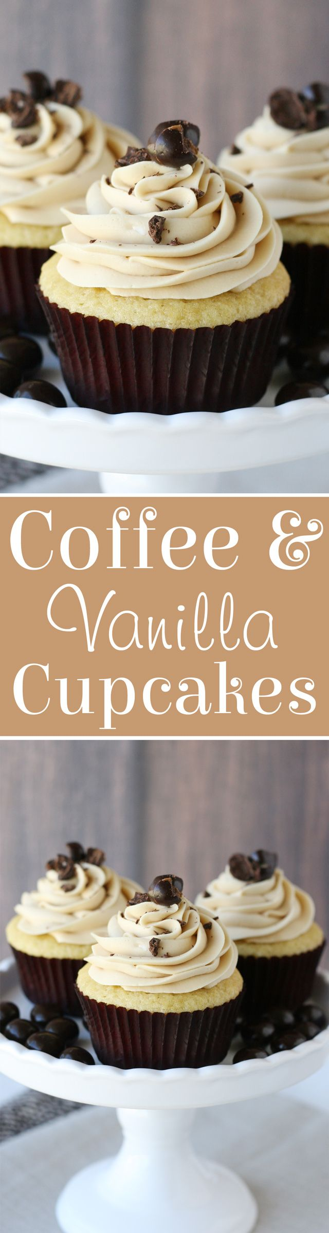 PERFECT Vanilla Cupcakes with Coffee Buttercream