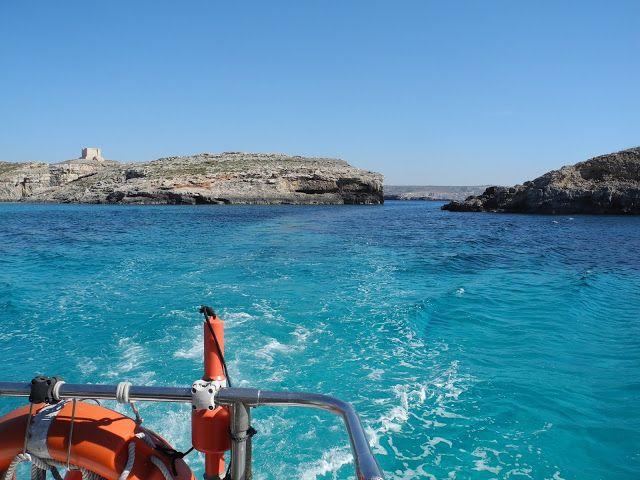 Les eaux bleues du Blue Lagoon de #comino #malte
