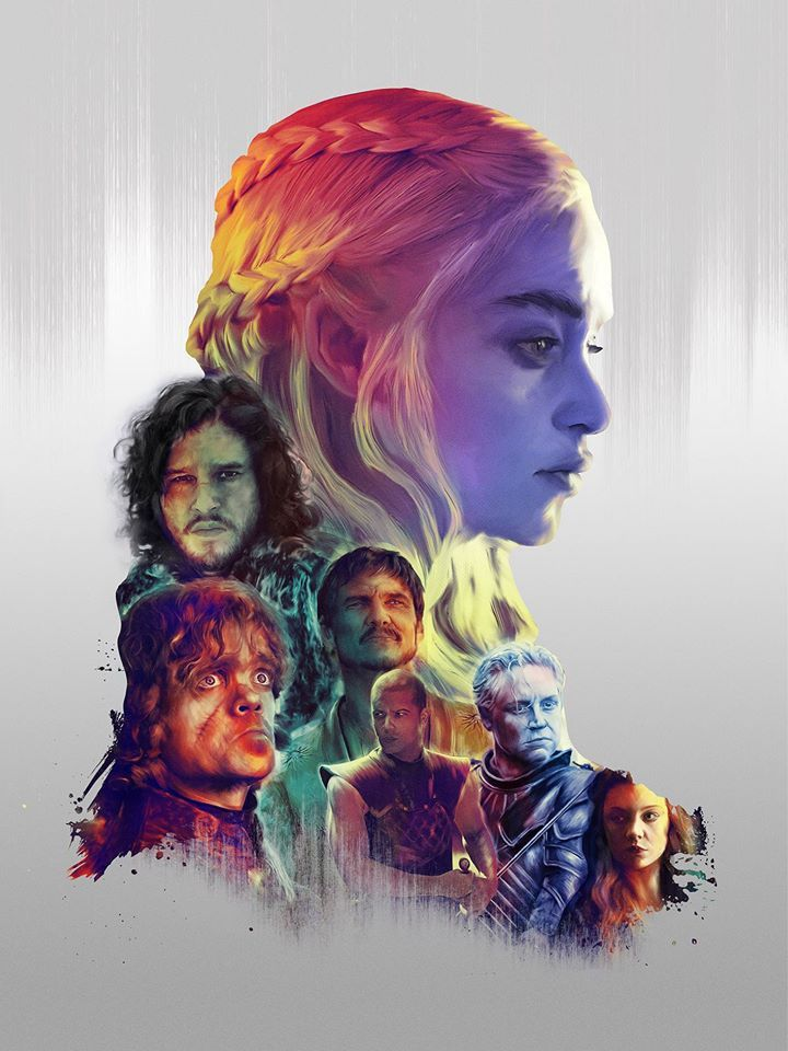 Game of Thrones - Created by Richard Davies Available as a print at Richard's Society6 Shop.