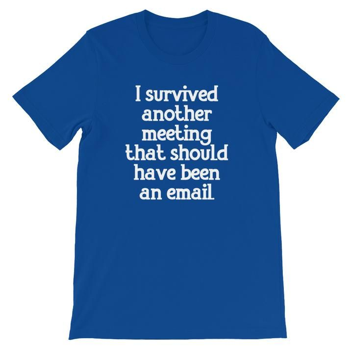 I Survived Another Meeting That Should Have Been An Email T Shirt