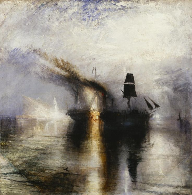 William Turner, PEACE: BURIAL AT SEA OF THE BODY OF SIR DAVID WILKIE, 1842 87 cm x 86 cm, Colore ad olio, Tate Britain