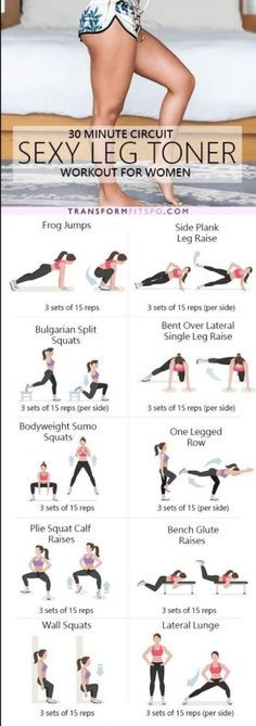The ultimate sexy leg toner lower body circuit workout http://amzn.to/2s1FWTh