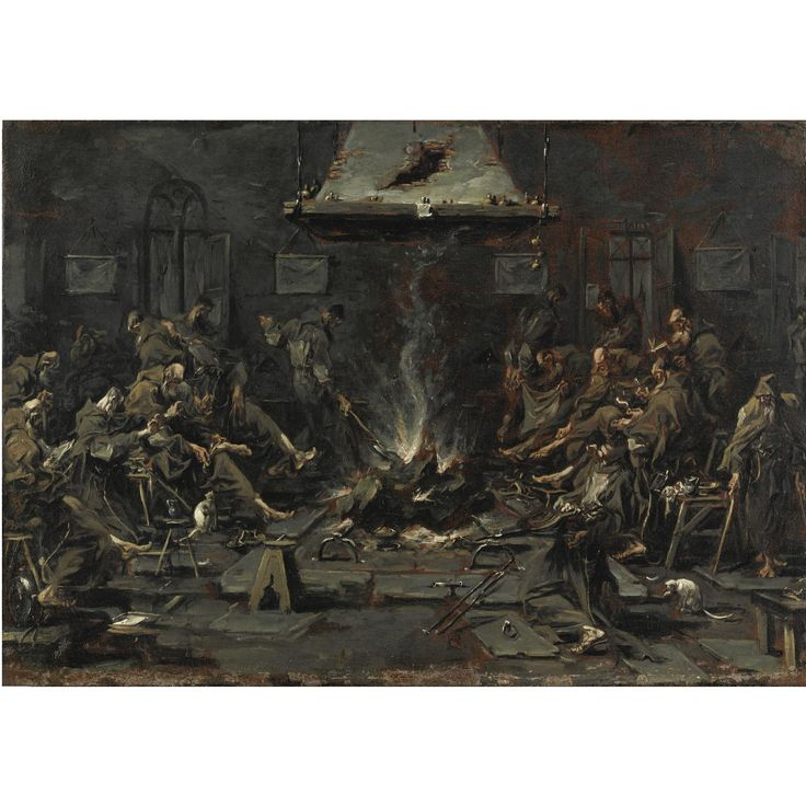 magnasco, alessandro frati c   pintura antigua   sotheby's mi0309lot5p8n3es