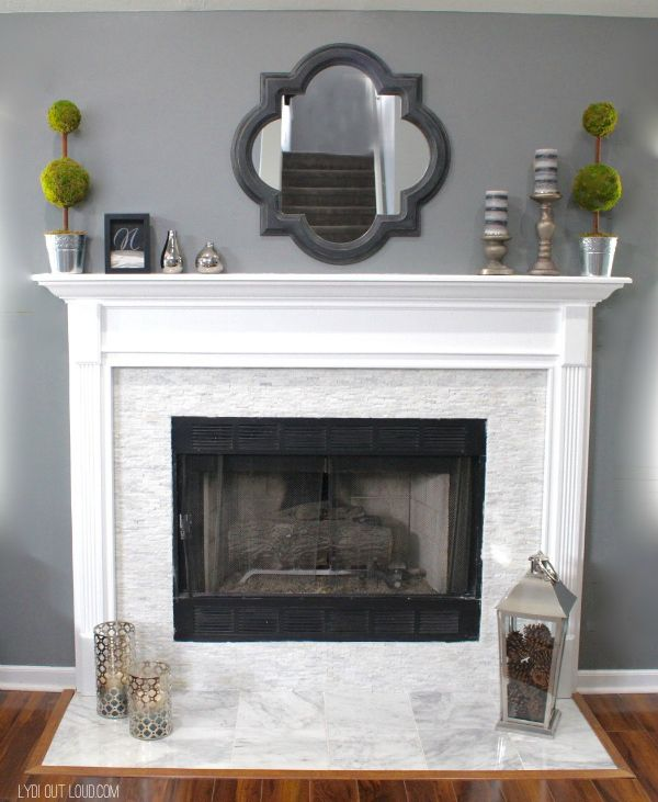 17 best ideas about white fireplace on pinterest white Color ideas for living room with brick fireplace