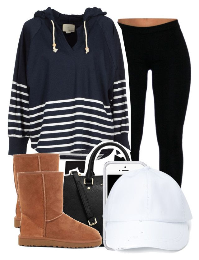 7:29:14 by codeineweeknds on Polyvore featuring Band of Outsiders, UGG Australia, MICHAEL Michael Kors, Forever 21, Stussy and Squair