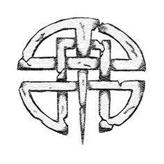 Celtic shield knot. Cool Tattoo design.