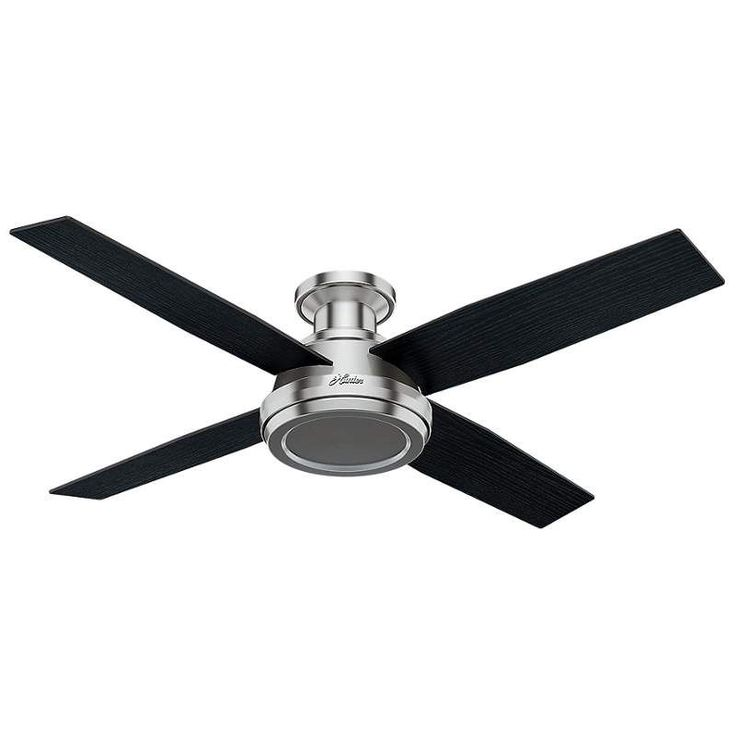 "View the Hunter Dempsey 52 Low Profile 52"" Indoor Ceiling Fan - 4 Reversible Blades and Remote Control Included at LightingDirect.com."