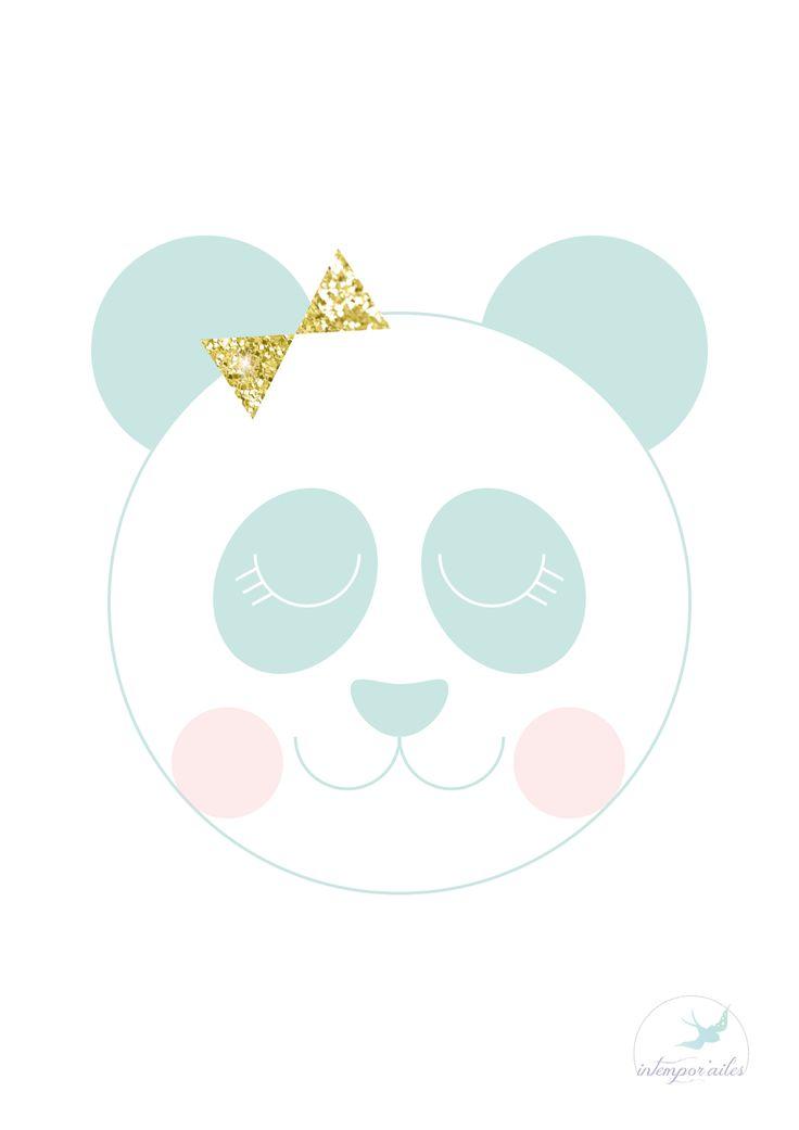 Mr et Mme Panda (printable cadeau)