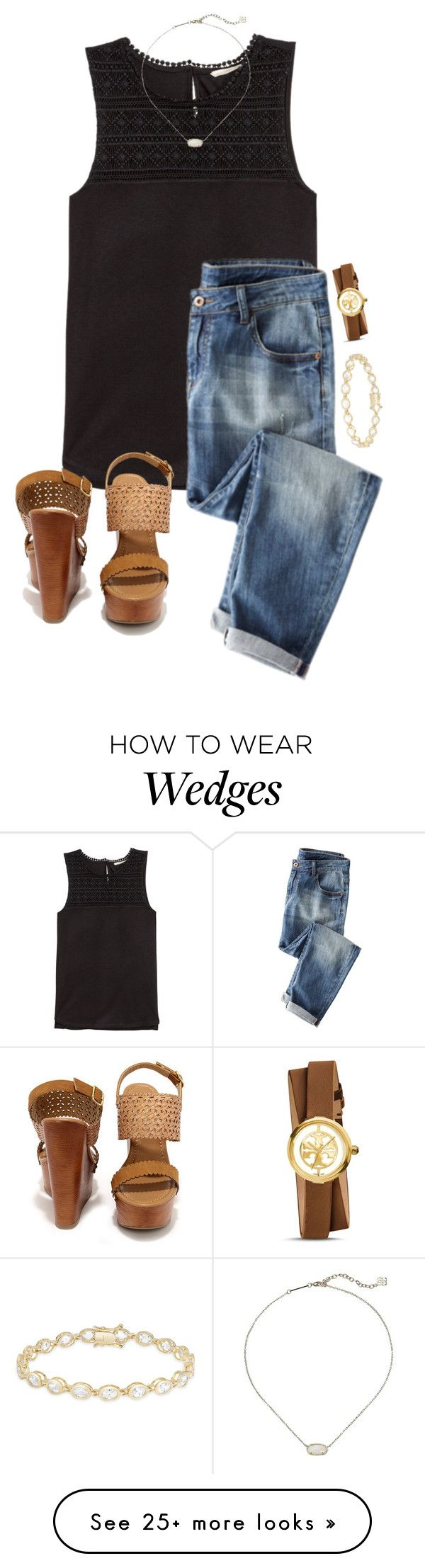 """Untitled #484"" by lydia-hh on Polyvore featuring H&M, Dolce Giavonna, Soda, Tory Burch and Kendra Scott"