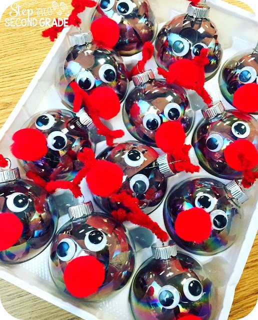 Reindeer, Synonyms, Snowmen, Polar Bears, and Trolls... OH MY!!! Amy Lemons does it again with these cute student made reindeer ornaments for parent gifts!