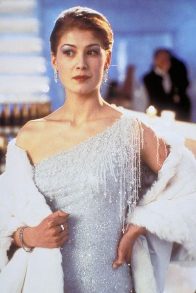 "Rosamund Pike as Miranda Frost in ""Die Another Day"" (2002)"