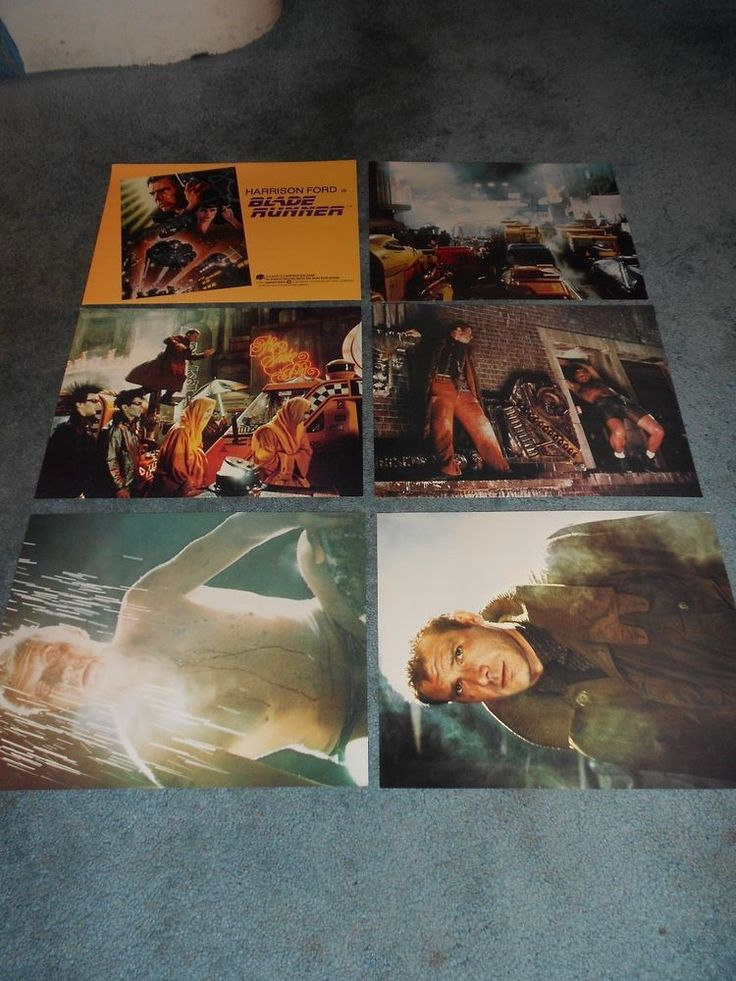 BLADE RUNNER(1982)HARRISON FORD LOT OF 6 DIFFERENT ORIGINAL LOBBY CARDS