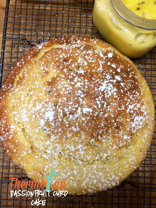 ThermoFun – Passionfruit Curd Cake Recipe