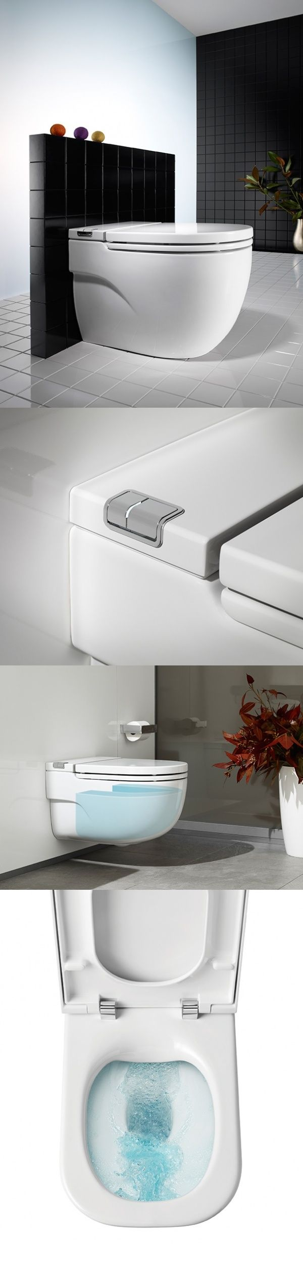 Who doesn't detest #cleaning the #toilet? Yuck. Imagine if it could clean itself. Heaven! The Gap Rimless is a self-cleaning toilet that features an innovative rimless pan designed as a continuous surface free of edges and angles, meaning dirt is quickly removed rather than accumulating in grooves or gaps. Flushing from a single point, The Gap Rimless literally cleans itself, with water circulating along the inner perimeter and moving in a circular motion toward the lower outlet. All this…