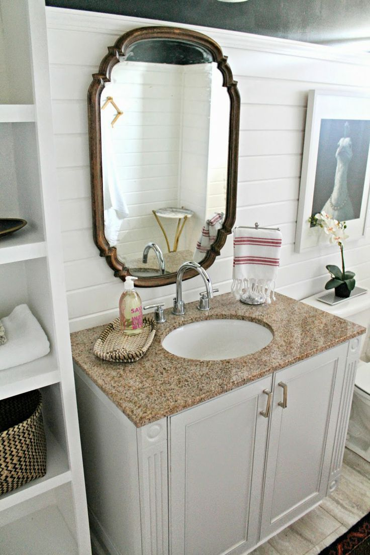 Burlap bathroom ideas - Burlap And Lace Guest Bathroom Reveal On A Budget