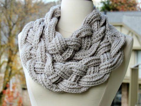 Cuello Doble Trenza / Tutorial Crochet en Español y en Inglés | Crochet y Dos agujas - Patrones de tejido
