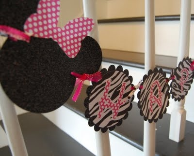 minnie mouse party- banner: Baby Names, Felt Banner