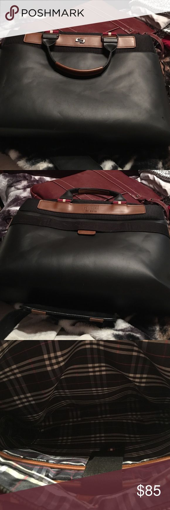 Brand New Laptop case Brand New Laptop case-leather.  Designer from New York.  Never used-just no tags Bags Laptop Bags