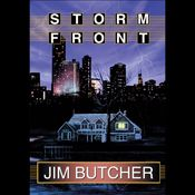 I finished listening to Storm Front: The Dresden Files, Book 1 (Unabridged) by Jim Butcher, narrated by James Marsters on my Audible app.  Try Audible and get it free.