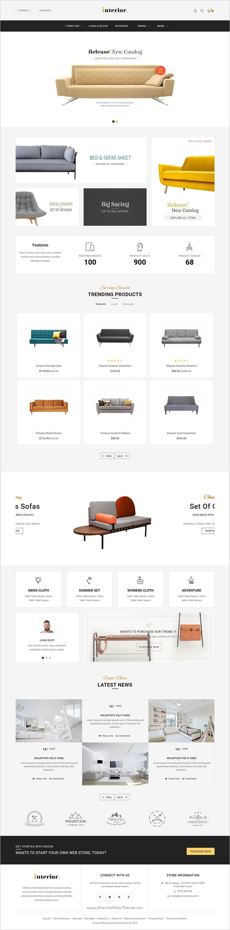 Interior store is beautifully design #Opencart theme for creative #sofa #furniture #shop eCommerce website with 8 multipurpose homepage layouts download now➯ https://themeforest.net/item/interior-opencart-multi-purpose-responsive-theme/17089911?ref=Datasata