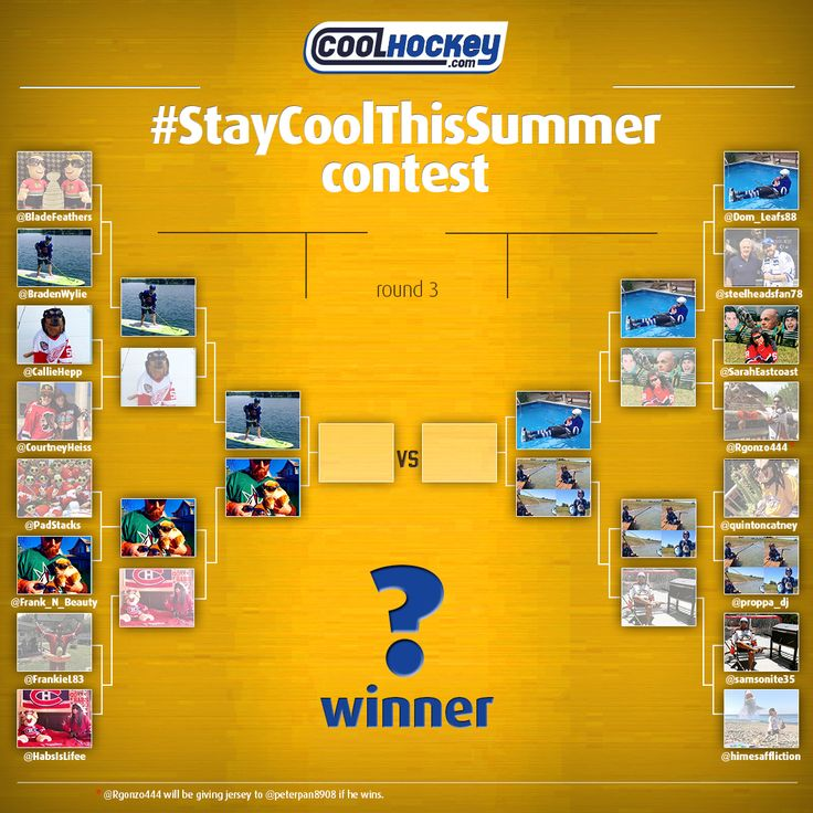 #StayCoolThisSummer #Contest Semi-Finalists! Go to Twitter/ Instagram to vote for your favorite picture now! COOLHOCKEY.com FREE #NHL JERSEYS