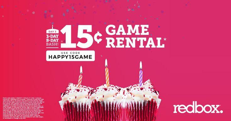Redbox - 15¢ Game Rental Code