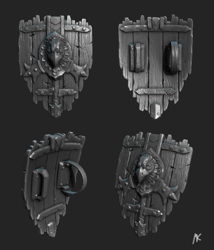 ArtStation - Medieval Shield, Martin Kepplinger