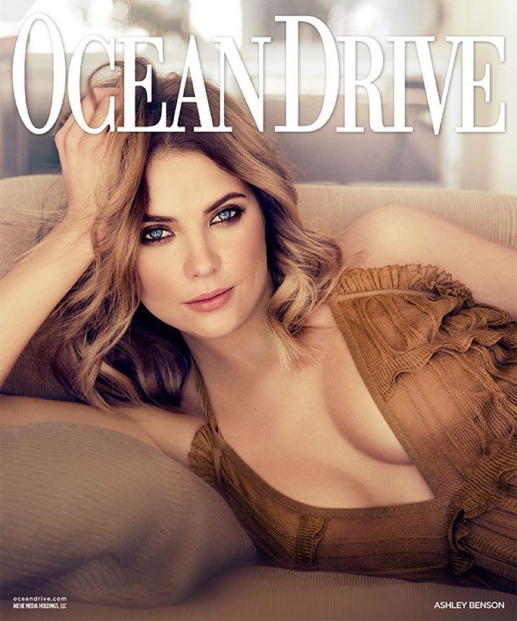 Ashley Benson wears elegant dresses on Ocean Drive Magazine January 2016 cover