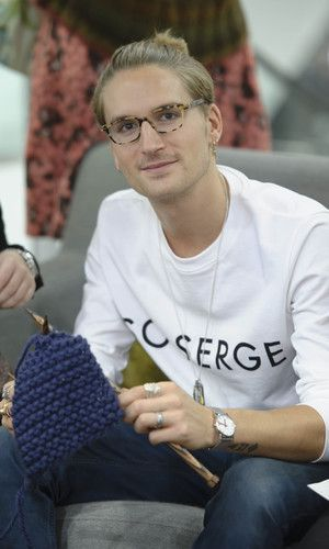 Oliver Proudlock Oliver Proudlock from Made In Chelsea celebrated Wool Week by joining a Campaign for Wool knitting class.30 Celebs Who You Never Knew Knitted