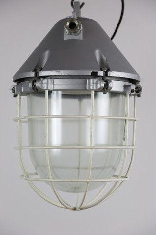 Anti explosion lamp, silver