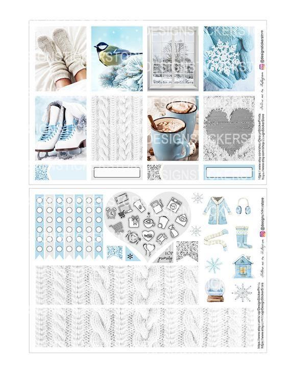 FREDDO inverno planner adesivi/Printable Planner adesivi/Printable Photo kit/adesivi per Erin Condren Lifeplanner/Photo Download kit/inverno