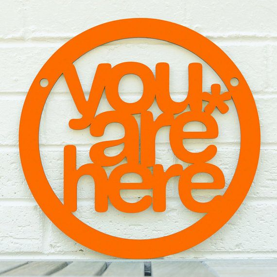 You are Here MINI (meditate, be present) spunky fluff spunkyfluff