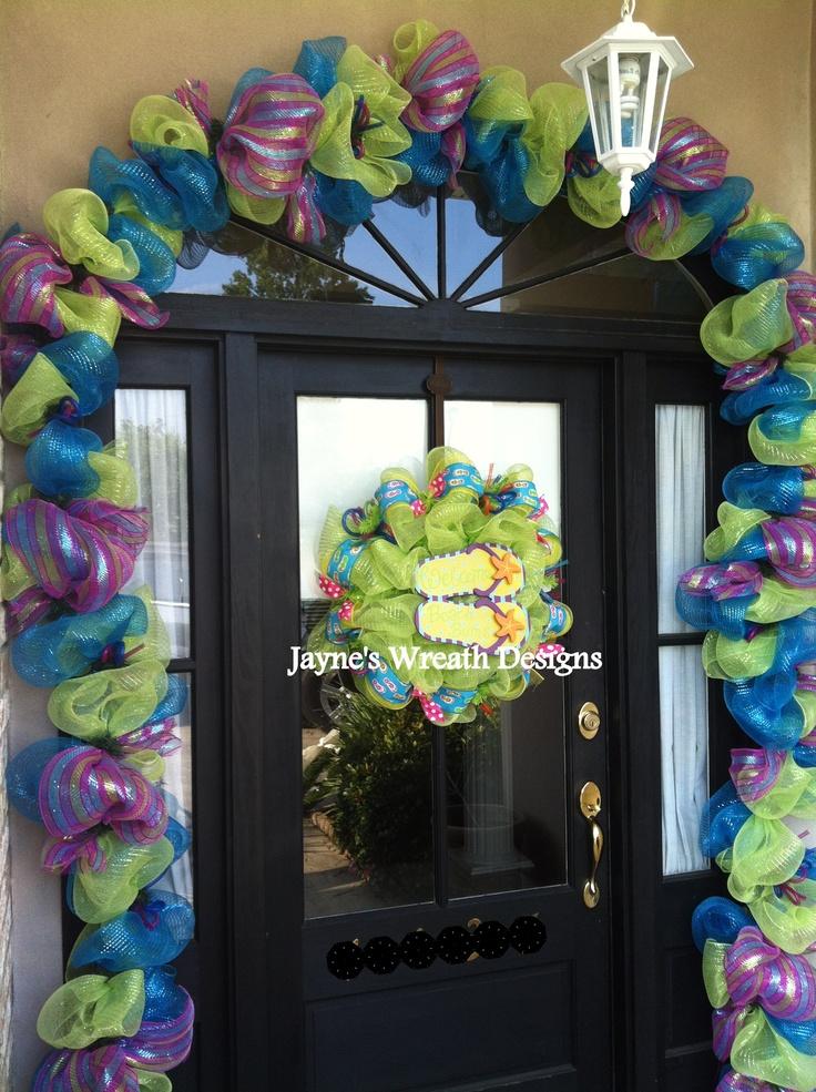 Flip Flop Wreath w/ 20' Garland to match