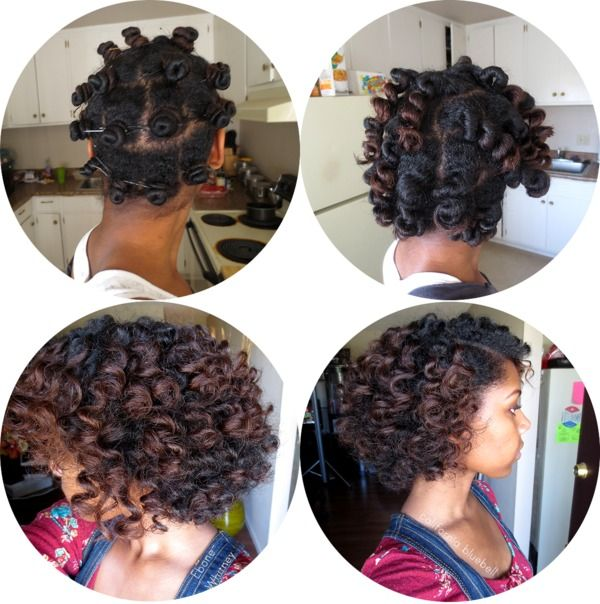 Bantu Knot Out Pictorial using shea moisture curl enhancing smoothie