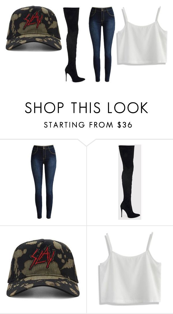 """""""SLAY"""" by cashmere-renea ❤ liked on Polyvore featuring 21 Men and Chicwish"""