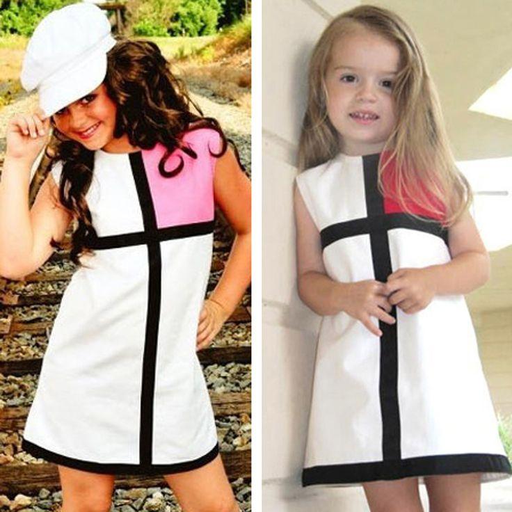 Summer little Girl clothes Dresses 2016 Cross little Girl clothes Dresses summer brand sleeveless clothes Dress for little Girl