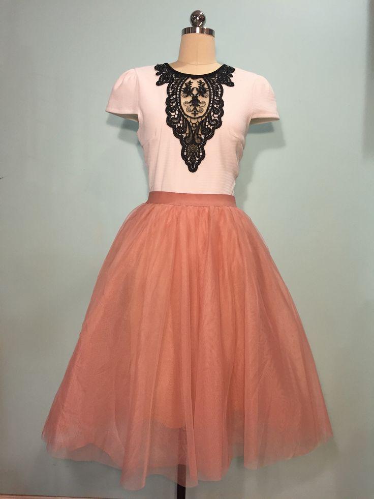 Pink Tulle Skirt Tulle Skirt Petticoat Vintage inspired