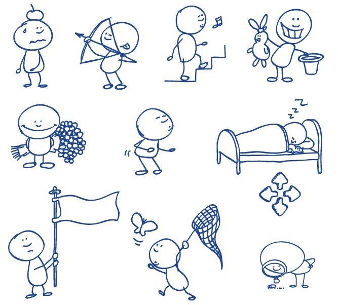 手書き落書き風に描かれた人物 無料ベクターイラスト素材 2020