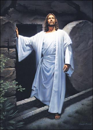 Jesus is alive! He rose on the 3rd day. Death could not keep Him - He is the Son of man - Jesus Christ...He died so our sins would be forgiven once we asked Him into our hearts...