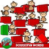 Positional Word Clip art   Included are 13 Color and 13 Black and White    $