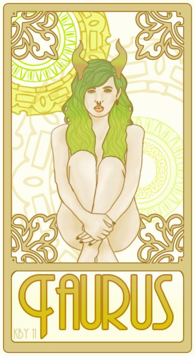 Art Nouveau Taurus woman. Get detailed info about Taurus Traits & Personality @ http://www.buildingbeautifulsouls.com/zodiac-signs/western-zodiac/taurus-star-sign-traits-personality-characteristics/