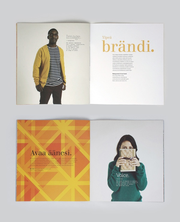Brandbook for University of Vaasa by Ilkka Kärkkäinen, via Behance