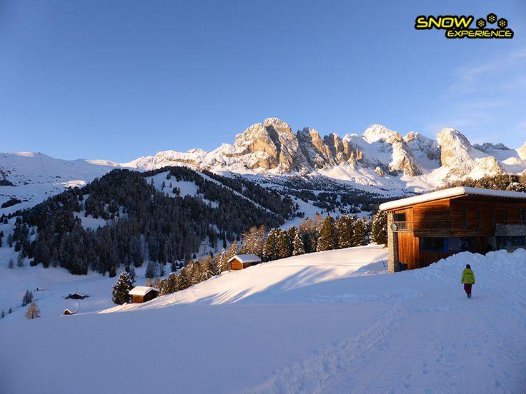 Rifugio Juac - Col Raiser  Een van de locaties waar we overnachten tijdens de skihuttentocht van Snow Experience.