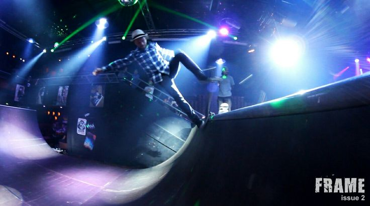 Nightclub skateboarding at Tavastia Club. Helsinki Finland. We were there to film New Frame issue 2 extreme movie #skaboarding