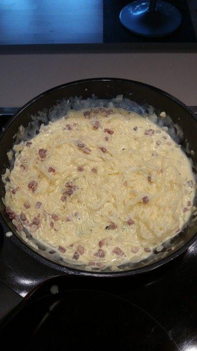 Shirataki nach Spaghetti Carbonara Art, ein gutes Rezept aus der Kategorie Diabetiker. Bewertungen: 18. Durchschnitt: Ø 4,0.