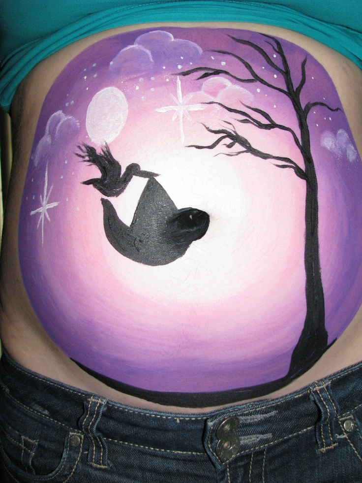 Belly Bump Painting by Shari Dowden