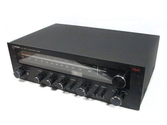 Philips 7841 Receiver Vintage Stereo High Fi Labs Amplifier Black Face & Knobs via EchoDecoModern on Etsy #vintageaudio #hifi #Philips #7841, #receiver, #amplifier, #retrostereo