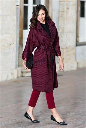 Kuaybe Gider · Kadın Tekstil - Mürdüm Trenchcoat 7028.17 %50 indirimle 254,99TL ile Trendyol da