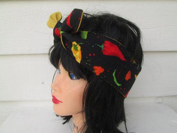 Rosie Wrap Dolly Bow Pin up Rockabilly bandana by Ritaknitsall